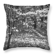 The Dogwoods Are Blooming It Must Be Spring. Throw Pillow