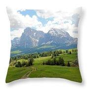 The Dolomites, Italy Throw Pillow