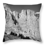 The Dolomites Throw Pillow