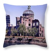 The Dome In Hiroshima Throw Pillow
