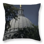 The Dome Of The Capitol Building Throw Pillow