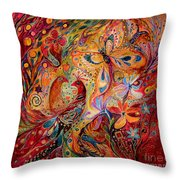 The Domination Of Red Throw Pillow