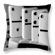 The Domino Effect Throw Pillow