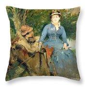 The Donkey Ride Throw Pillow