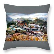 The Donor Cars Throw Pillow