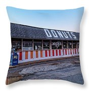 The Donut Shop No Longer 2, Niceville, Florida Throw Pillow