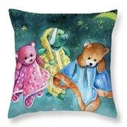 The Doo Doo Bears Throw Pillow