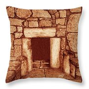 The Door Of Humility At The Church Of The Nativity Bethlehem Throw Pillow