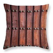 The Door Of San Juan Throw Pillow