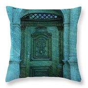The Door To The Secret Throw Pillow by Susanne Van Hulst