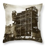 The Dorrance Breaker Wilkes Barre Pa 1983 Throw Pillow
