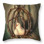 The Dove Throw Pillow