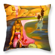The D.q. Within Bella Throw Pillow by Milagros Palmieri