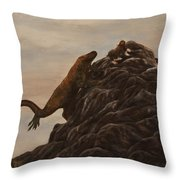 The Dragon And The Ox Throw Pillow
