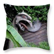 The Dragon In The Garden Throw Pillow