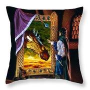 The Dragon Mirror Throw Pillow