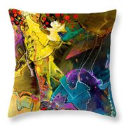 The Dragon Nursery Under The Apple Tree Throw Pillow
