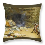 The Dragon's Cave Throw Pillow