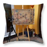 The Drawing Board Speaks Throw Pillow