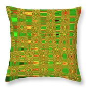 The Dreaded Bull Head Sticker Yellow Flower Abstract Throw Pillow