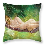 The Dream In Summer Garden Throw Pillow