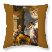The Dream Of Saint Joseph Throw Pillow