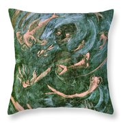 The Dream Of The Fish 1 By Walter Gramatte Throw Pillow