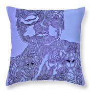 The Dreaming Man Throw Pillow