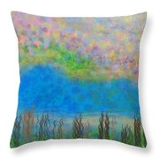 The Dreamy Pond Throw Pillow