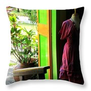 The Dress Store Throw Pillow