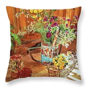 The Dried Flower Shop Throw Pillow