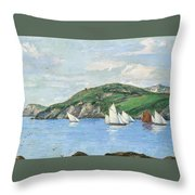 The Drifting Fishing Fleet Throw Pillow
