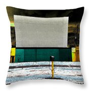 The Drive In Throw Pillow
