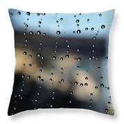 The Droplet Curtain Throw Pillow