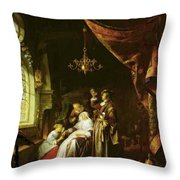 The Dropsical Woman Throw Pillow