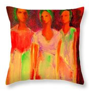 The Drums Of Africa Throw Pillow by Johanna Elik