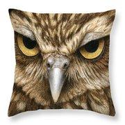 The Dubious Owl Throw Pillow