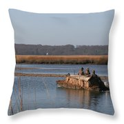 The Duck Hunters Throw Pillow