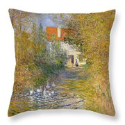 The Duck Pond Throw Pillow