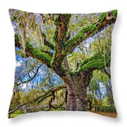 The Dueling Oak 2 Throw Pillow