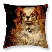 The Duke Of Marlborough. Portrait Of A Puppy Throw Pillow