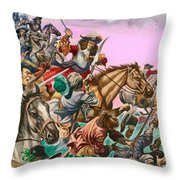 The Duke Of Monmouth At The Battle Of Sedgemoor Throw Pillow