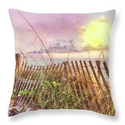 The Dunes In Watercolors Throw Pillow