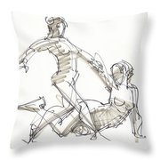The Duo Throw Pillow by Judith Kunzle