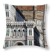 The Duomo Detail Throw Pillow