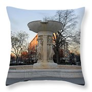 The Dupont Circle Fountain Without Water Throw Pillow