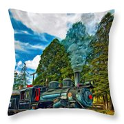 The Durbin Rocket - Paint Throw Pillow