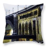The Eads Bridge Throw Pillow