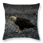 The Eagle And Its Prey Throw Pillow