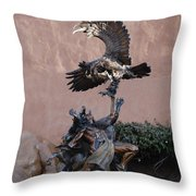 The Eagle And The Indian Throw Pillow